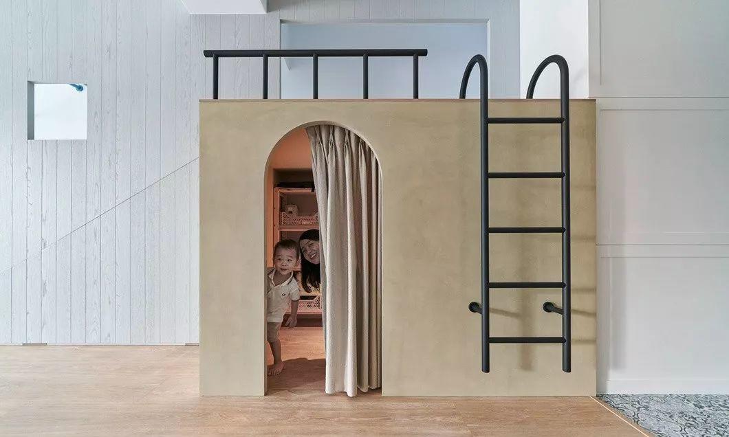 三口之家的亲子大宅设计,滑梯吸引眼球!